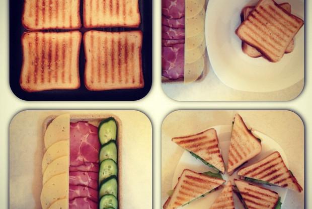 Клаб-сэндвич с карбонадом
