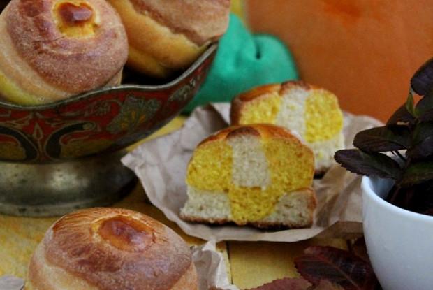 Тыквенно-сырные булочки
