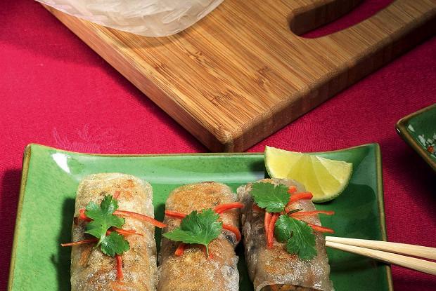 Вьетнамские роллы смясом ягненка