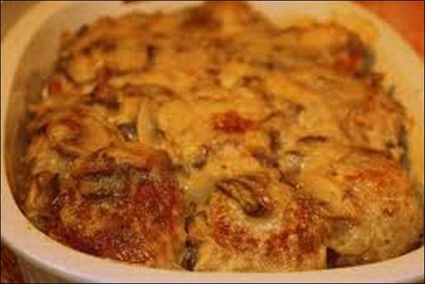 Курица с картофелем под сыром