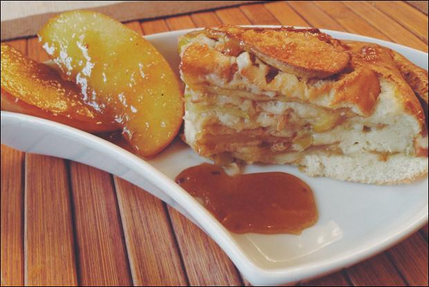 Яблочный пирог с карамелизированными яблоками