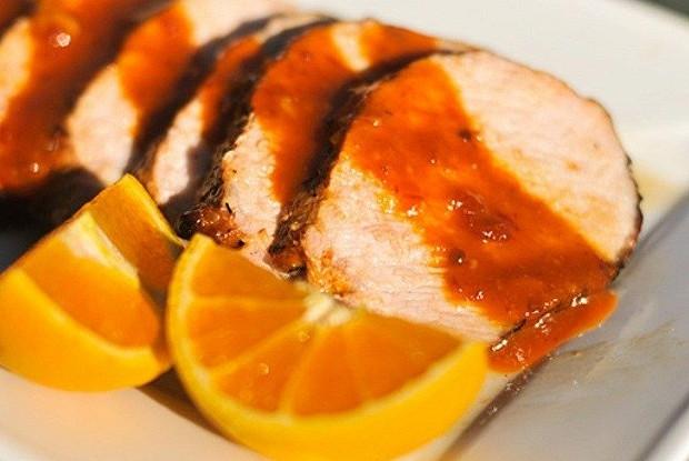 Запеченная свинина с апельсинами