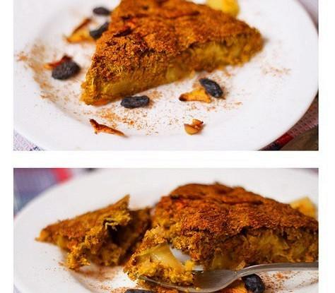 Морковно-апельсиновый пирог с яблоком и корицей