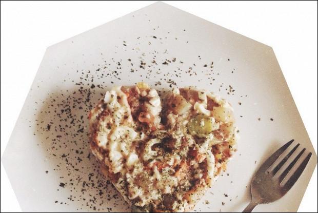 Салат диетический из морепродуктов