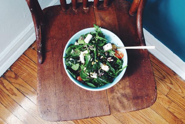 Салат с киноа и фетой