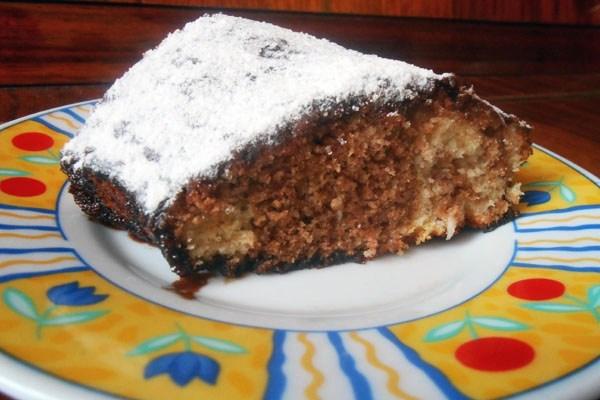 Фунтовый мраморный кекс в глазури
