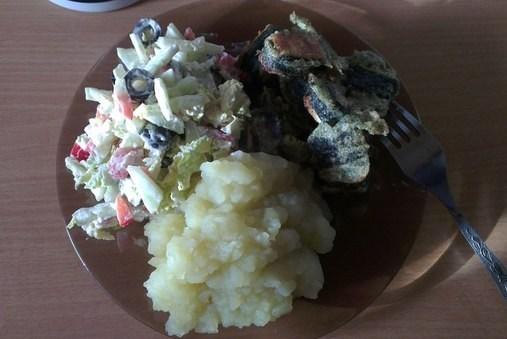 Вегетарианская «рыба» из сыра и нори