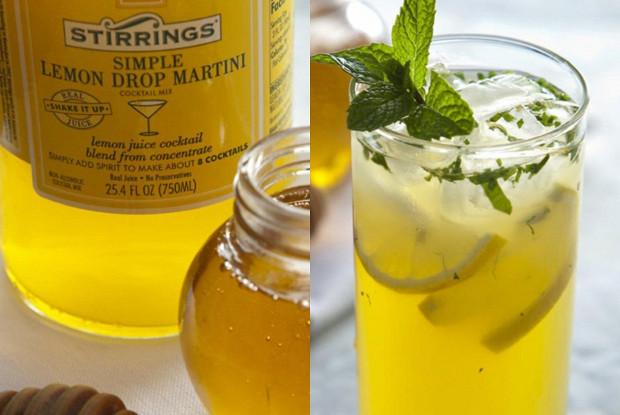 Лимонад с медом и фруктовым чаем