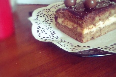 Кофейное пирожное с шоколадом