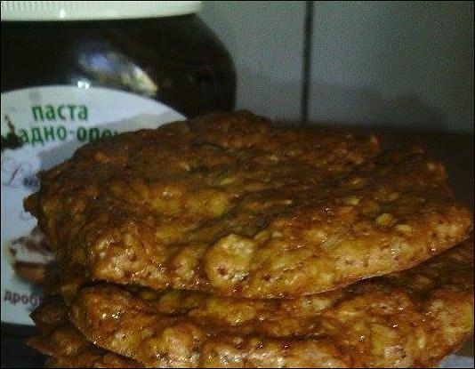 Хрустящее овсяное печенье без яиц