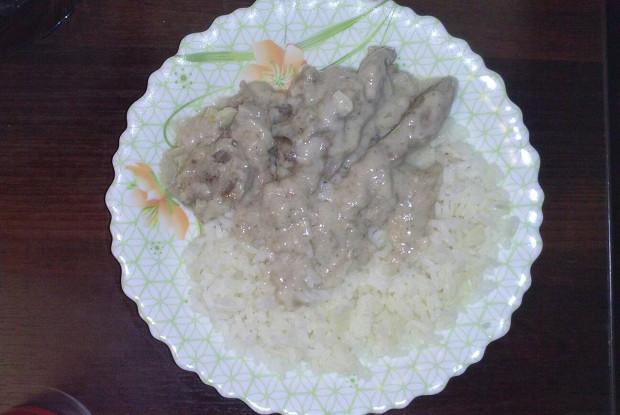 Говядина в чесночном соусе