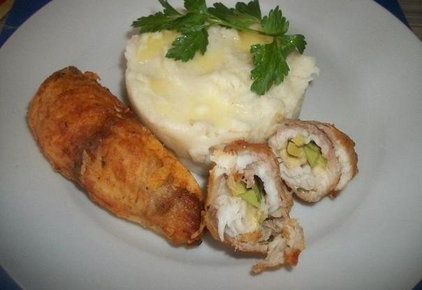 Рыбные рулетики с овощной начинкой
