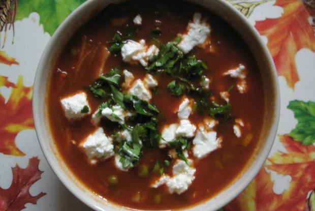 Быстрый суп с томатным соком