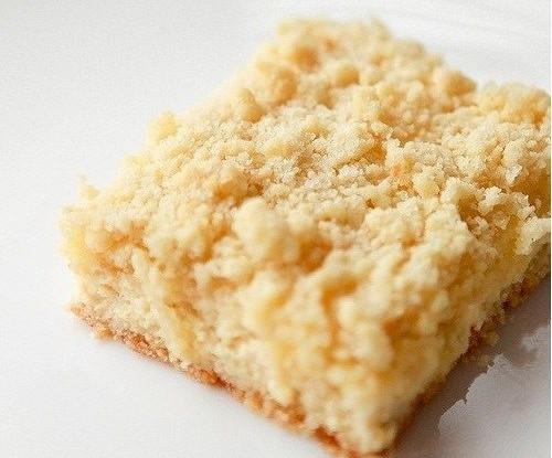 Песочный пирог с творожной начинкой