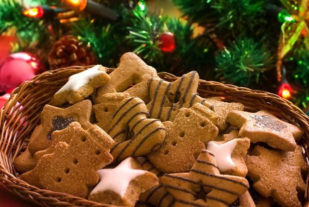 Рождественское печенье с чаем ройбос