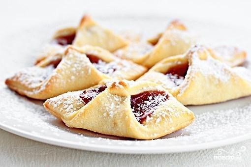 Творожное печенье с вареньем