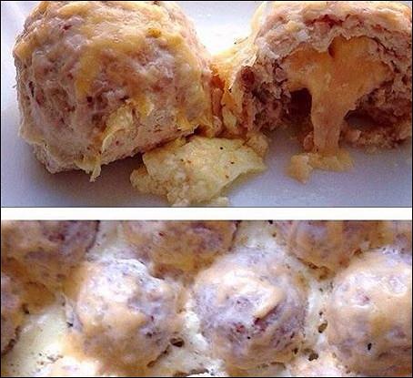 Куриные тефтели с гречкой и сыром