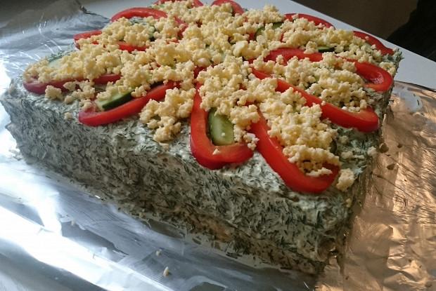 Эстонский рыбный торт