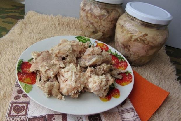 Домашняя тушенка из курицы