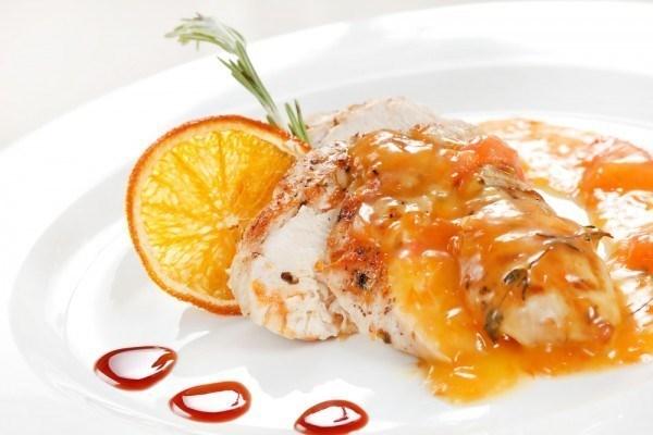 Курица с апельсином