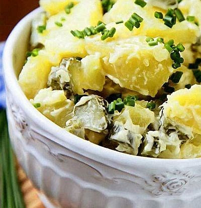 Немецкий картофельный салат с беконом