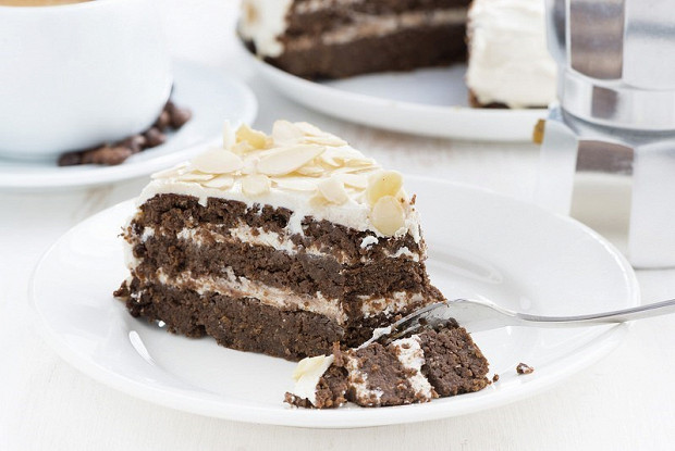 Шоколадно-черемуховый торт