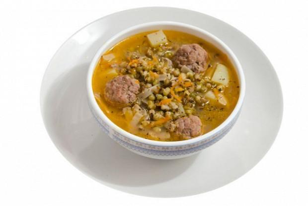 Суп из маша с мясными шариками