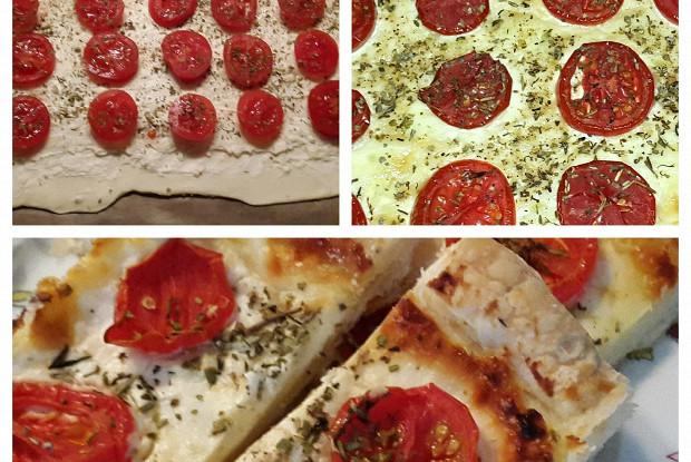 Тарт с помидорами и сливочным сыром