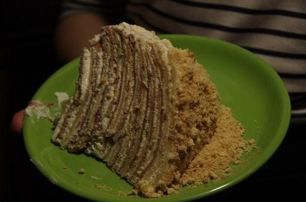 Блинный торт «Зебра»