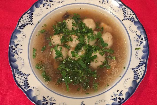 Украинский суп с галушками (диета № 9)