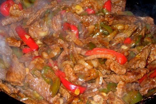 Мясо веревочкой по-китайски