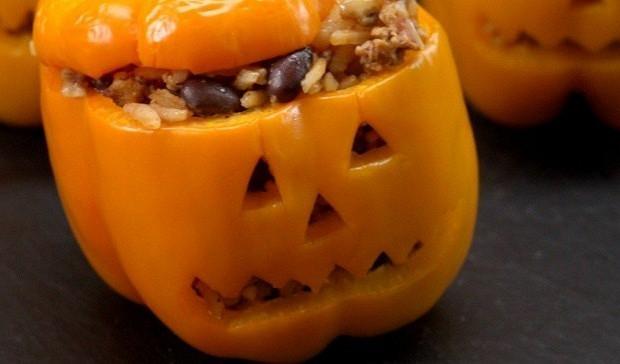 Фаршированные перцы на Хеллоуин