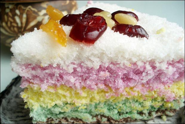 Разноцветный рисовый пирог (Тток)
