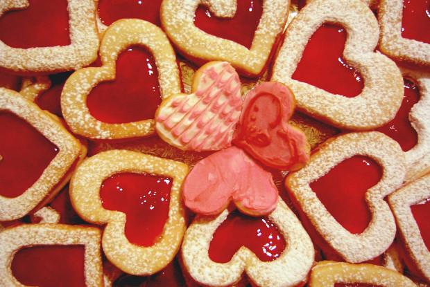 Печенье «сердечки»