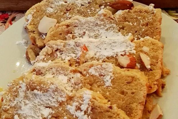 Кукурузно-ореховый пирог