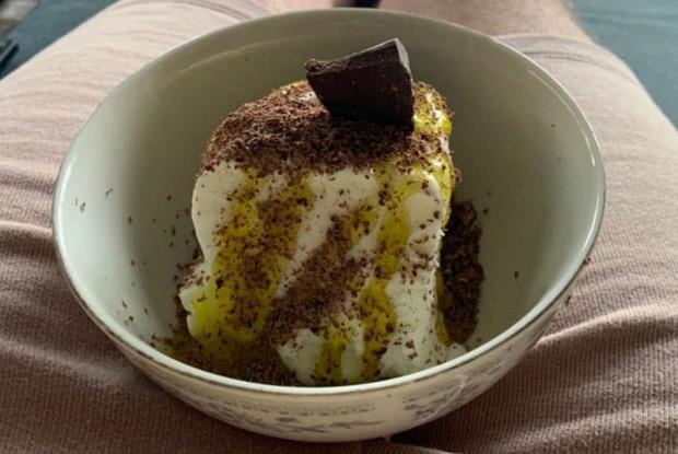 Мороженое с ликером