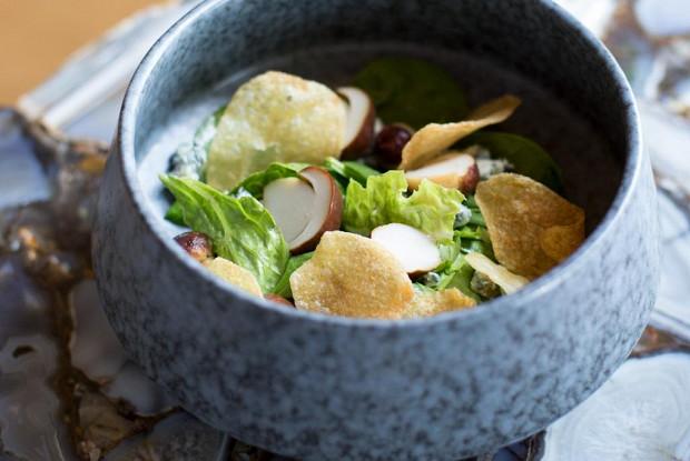 Салат с белыми грибами и горгонзолой