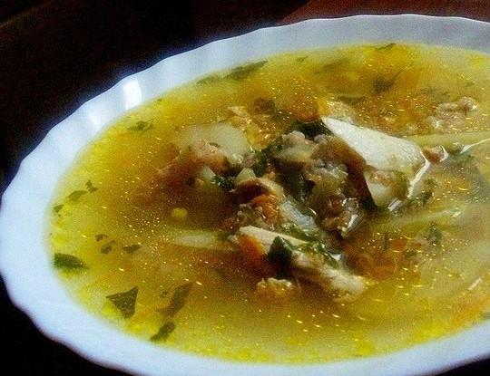 Суп с курицей и пшеничной крупой