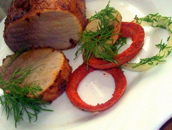 Запеченная свинина с паприкой