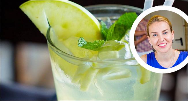 Яблочный джин-тоник