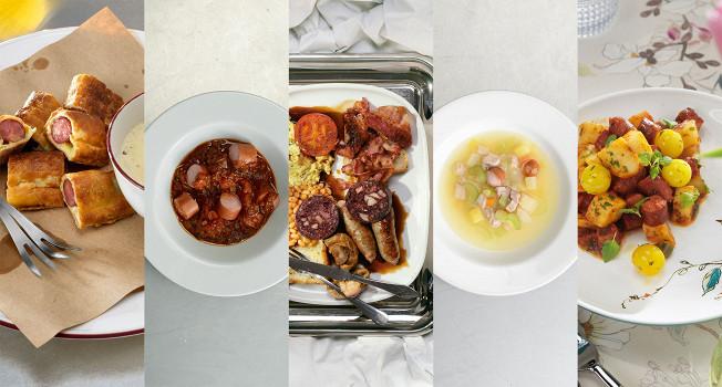 14 рецептов колбасок и с колбасками