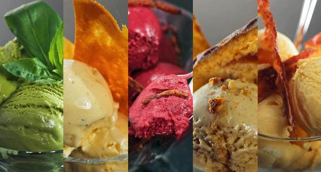 Мороженое с необычными вкусами