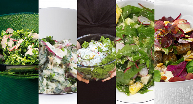 Пять салатов с редиской