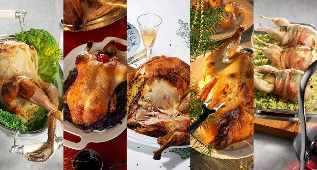 Курица, утка, цесарка, перепелка и индейка в духовке