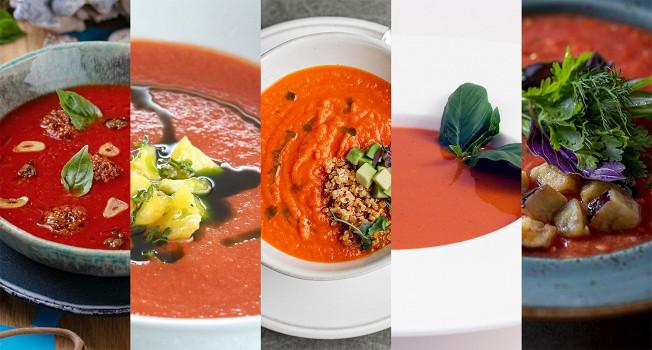 Как готовят томатный суп в ресторанах