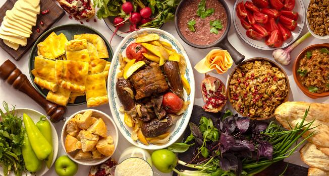 Большой грузинский обед