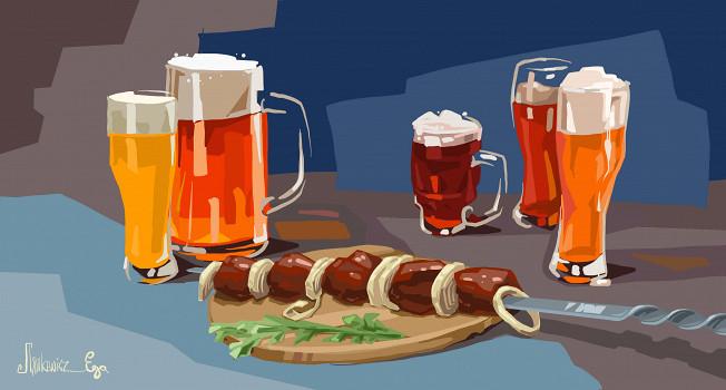 Какое пиво подходит к шашлыку